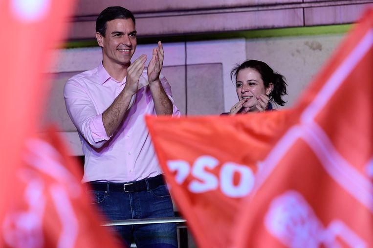 Pedro Sánchez is de winnaar van de parlementsverkiezingen, maar moet wel op zoek naar een coalitie.