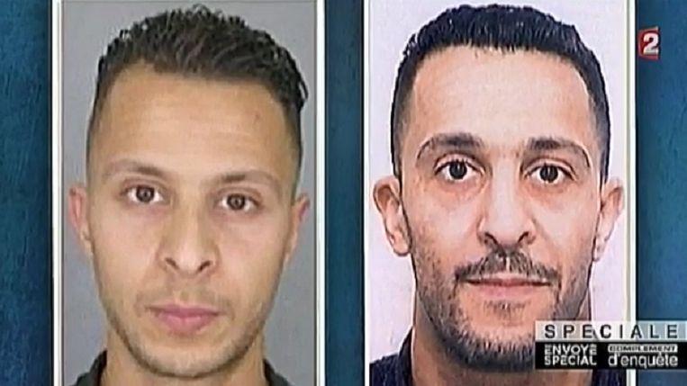 Salah Abdeslam en zijn broer Brahim, die zichzelf opblies bij de aanslagen in Parijs.