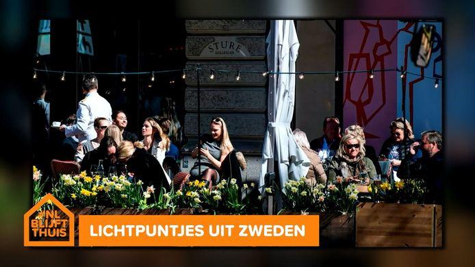 Correspondent Anne Grietje Franssen vertelt dat het leven in Zweden gewoon doorgaat