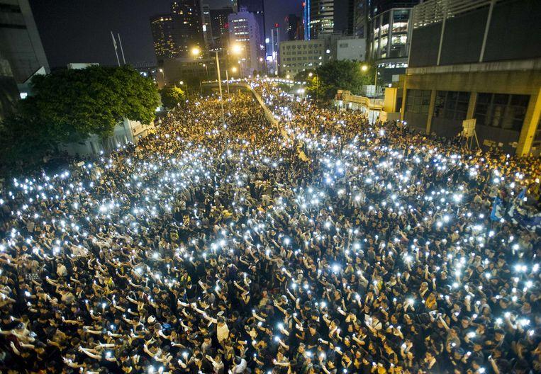 Demonstranten in Hongkong. Beeld AFP