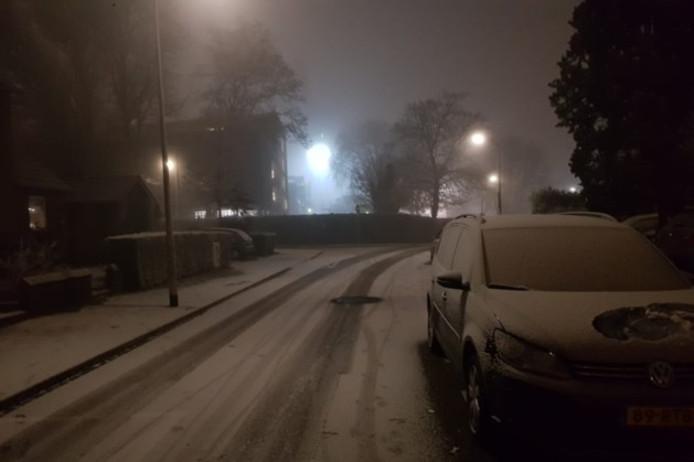 Sneeuw in het zuiden van Limburg.