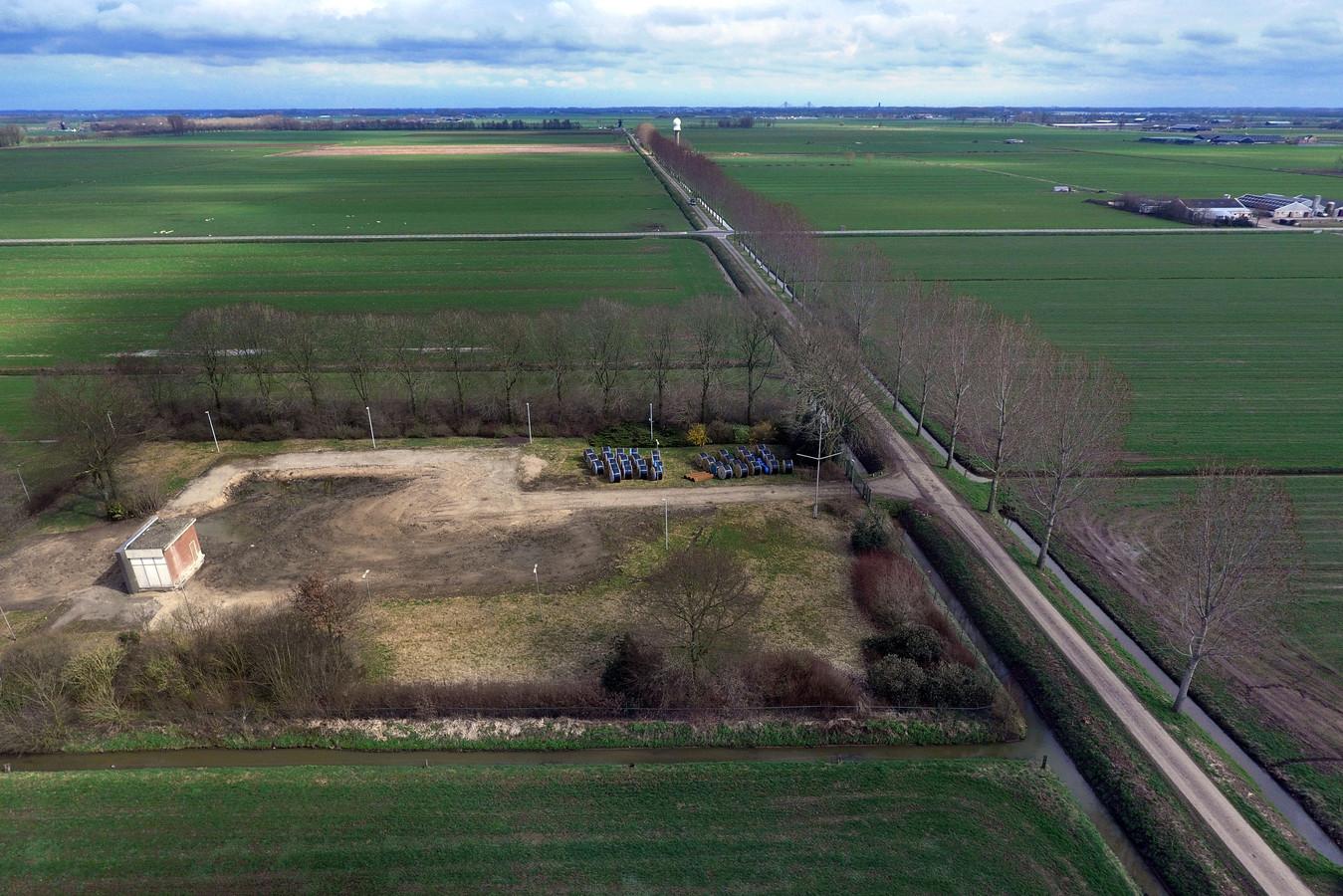 De plek waar de radartoren moet komen: de Broekgraaf in Herwijnen.