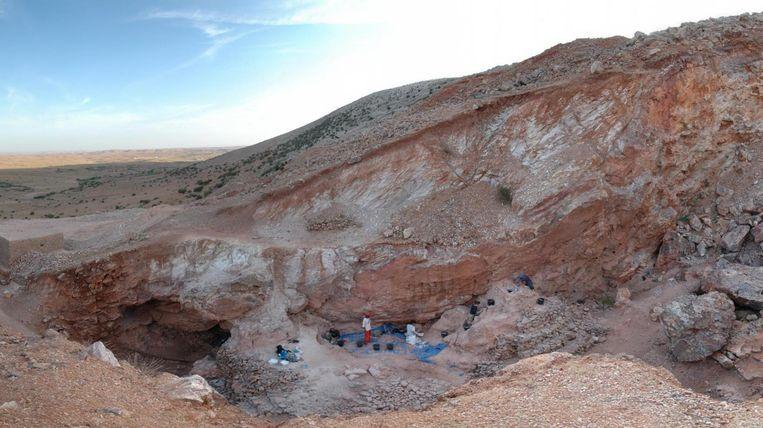 De vindplaats van Homo sapiens-resten in Marokko. Beeld Shannon McPherron, MPI EVA Leipzig