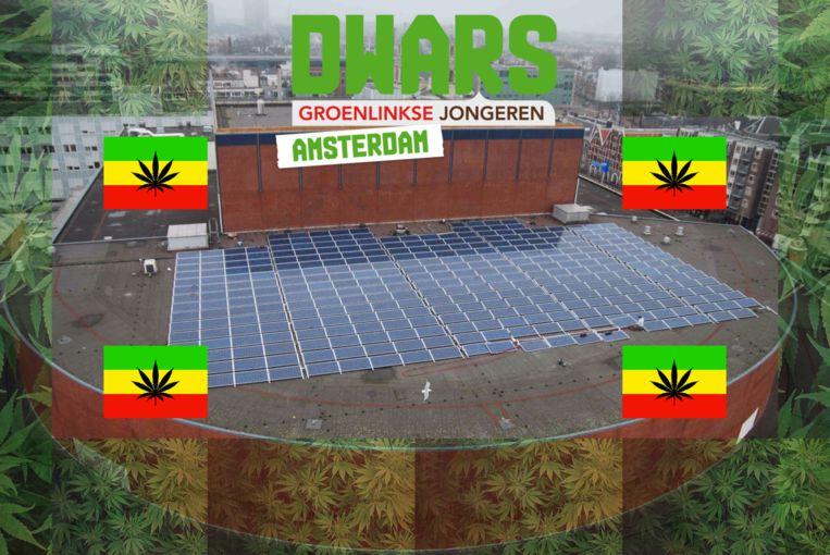 Wiet op dak Stopera: groen én winstgevend Beeld Dwars