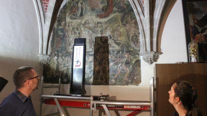Na het Lam Gods nu ook de Sint-Martinuskerk: hoogtechnologische scanner analyseert verborgen muurschildering