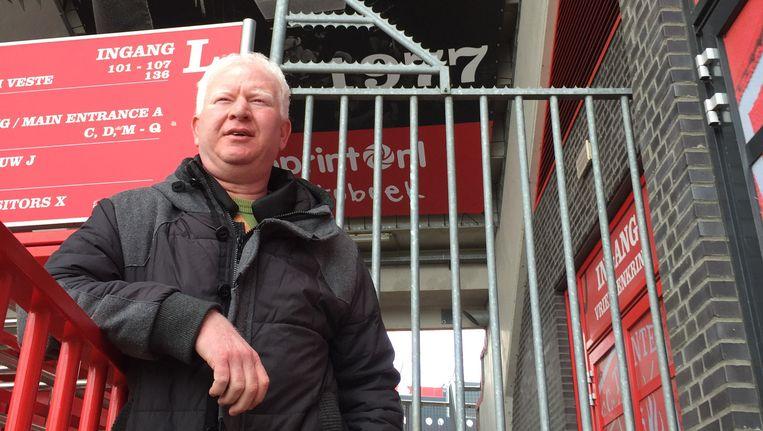 Ufuk Ermis, voorzitter van supportersclub De Vriendenkring. Beeld