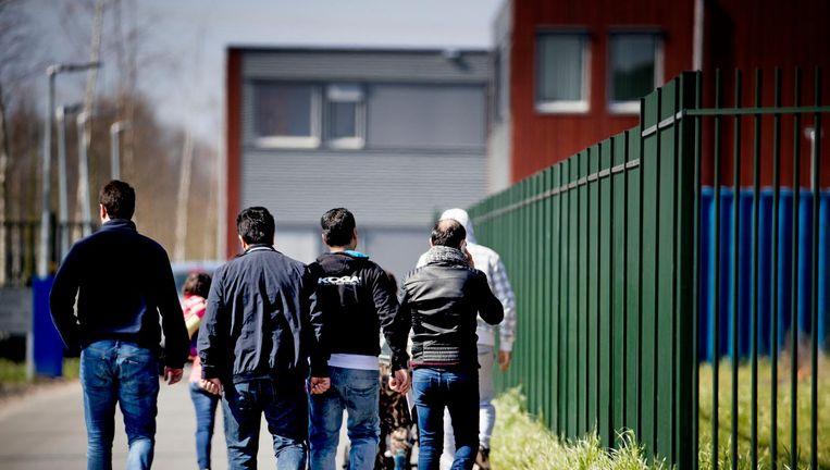 Vluchtelingen bij Ter Apel Beeld anp