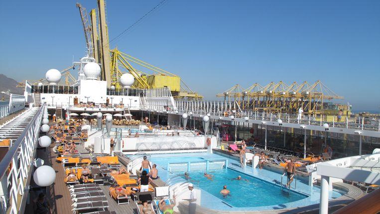 Cruiseschip MSC Lirica in de haven. Beeld Iñaki Oñorbe Genovesi