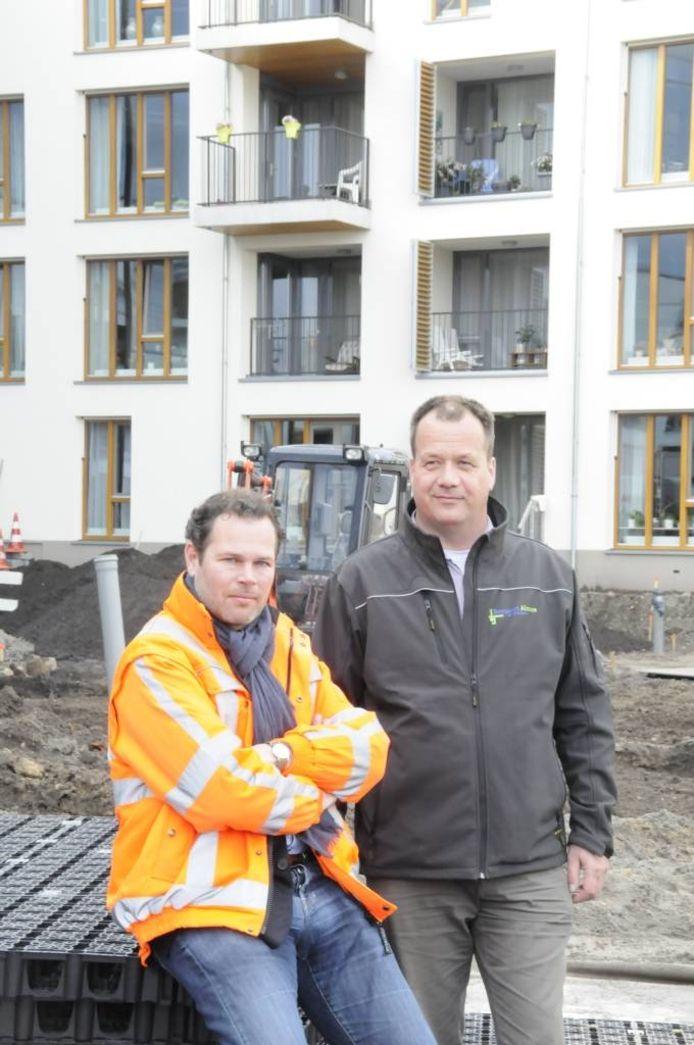 Eijkelboom-directeur Erik Punt (l) en Boogaart-directeur Gerben de Boer.