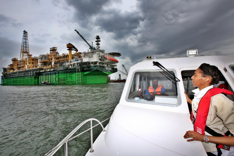 Een offshorebedrijf in Nigeria. Als de trend doorzet, komen de meeste mensen in het Afrikaanse land in 2040 op het hoogste inkomensniveau 'level 4'. Beeld George Osodi/ Getty Images