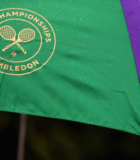 Regen gooit kwalificatie Wimbledon in de war