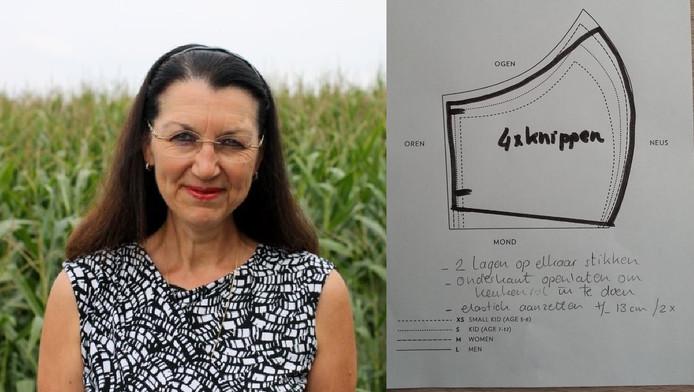 Huisarts Christina Noppe uit Schoonrewoerd roept naaiateliers en andere mensen die handig zijn met een naaimachine op om katoenen mondmaskers te maken waar je keukenpapier tussen kunt schuiven.