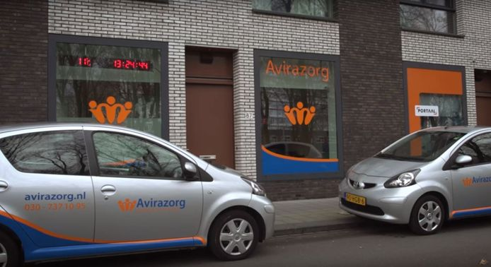 Het voormalige pand van Pretoria Zorg/Avirazorg aan de Pretoriadreef in de Utrechtse wijk Overvecht