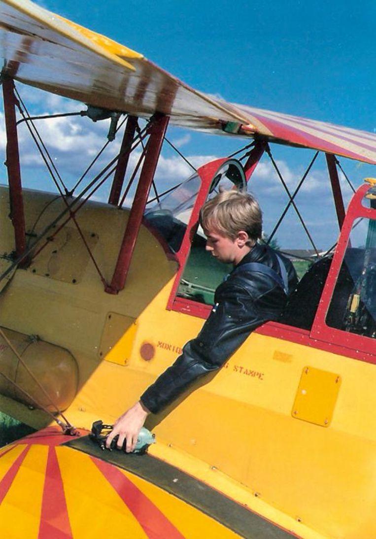 Zijn eerste vlucht, dertig jaar geleden.