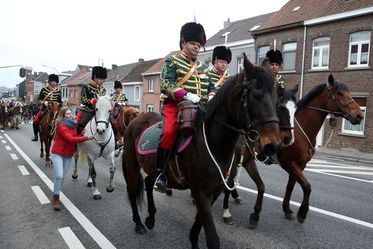 Leden van de Koninklijke Etat Major bij de start van de Sint-Veroonmars in 2018.