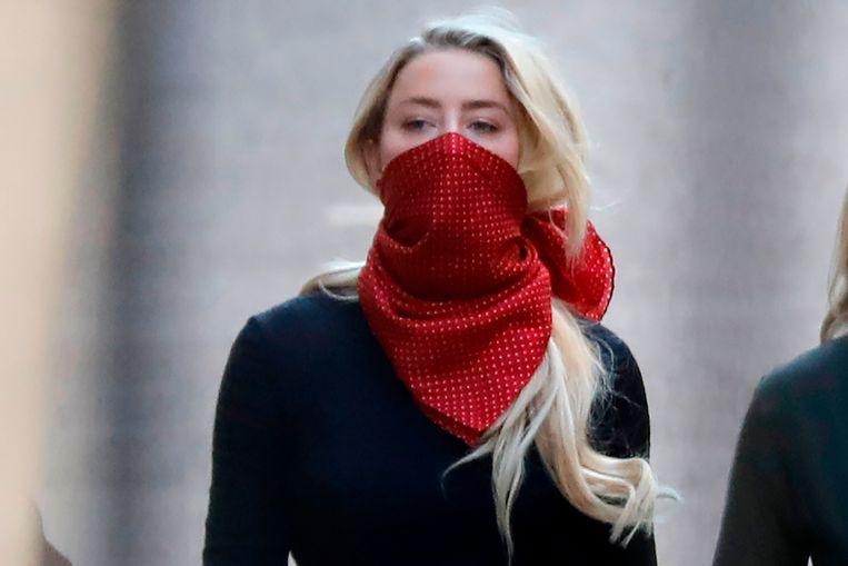 Ook Amber Heard, voormalige partner Johnny Depp, was aanwezig op de eerste procesdag.