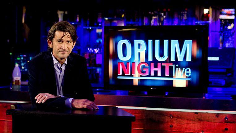 Cornald Maas tijdens opname Opium TV Beeld anp