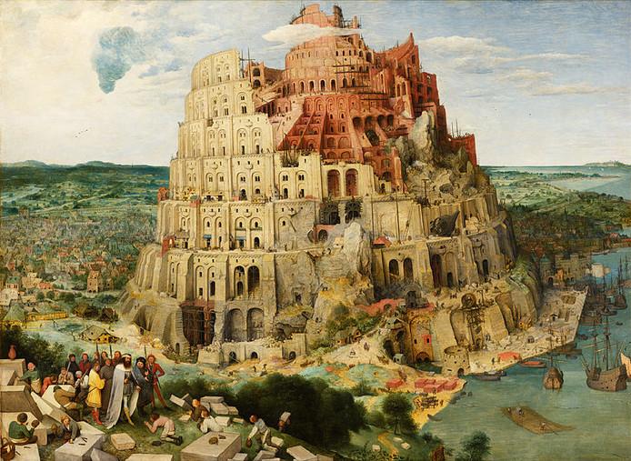 De toren van Babel, gemaakt door Pieter Bruegel de Oude