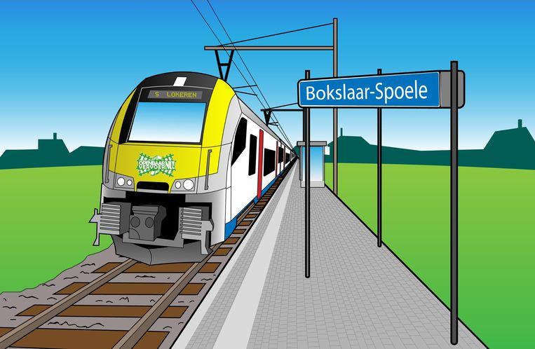 Een simulatie van hoe het nieuwe treinstation in Lokeren er zou kunnen uitzien.
