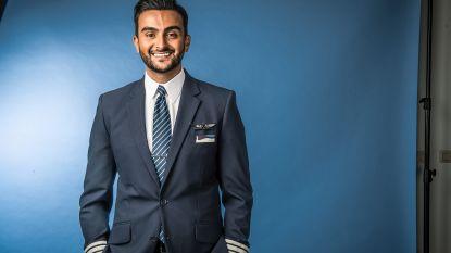 Azzeddine leerde in een jaar met een Boeing 737 vliegen