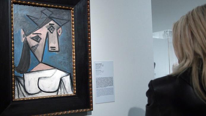 Het werk van Picasso, 'Cabeza de mujer' (hoofd van een vrouw), dat werd gestolen.