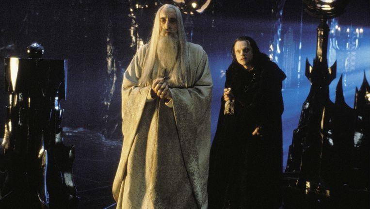 Christopher Lee als Saruman in The Hobbit Beeld Brunopress