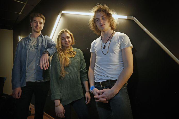 Pieter, Sarah en Jente van Portland.