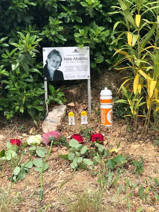 Herdenkingsplek voor Niels Alberda.