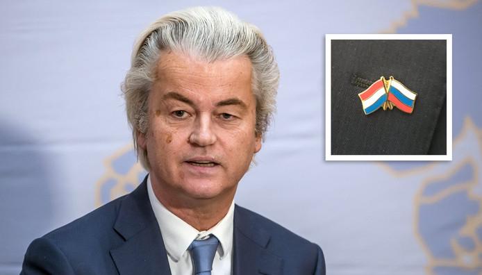 Geert Wilders, inzet: het bewuste Russisch-Nederlands vriendschapsspeldje