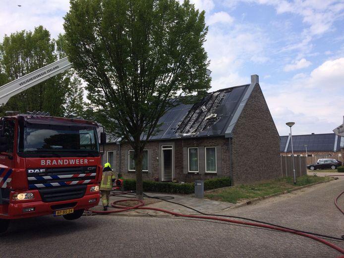 Brand in woning aan de Oude Polderstraat in Hulst.