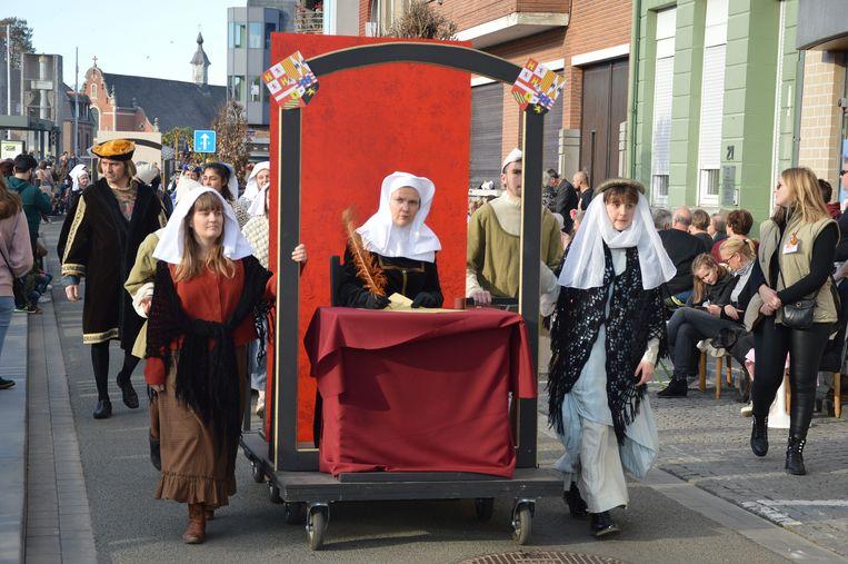 De ondertekening van de damesvrede van Kamerijk in 1529.