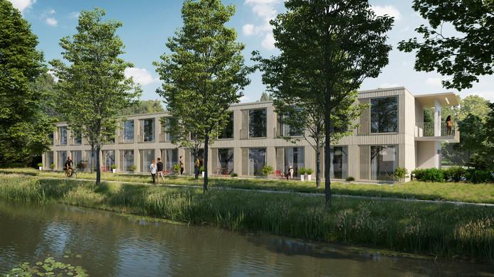 Impressie van de woningen die Nezzt in Purmerend gaat bouwen.