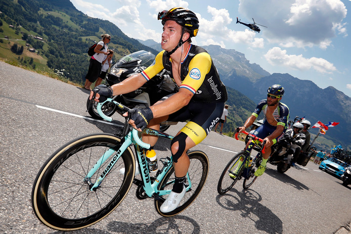 Dylan Groenewegen in actie tijdens de Tour de France.