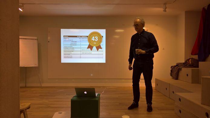 Richard Stomp presenteert de leegstandcijfers van het Binnenstadslab