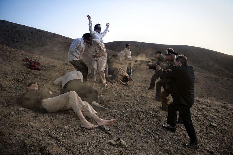 Evin-heuvels, Teheran, 18 april 1975: executie van linkse intellectuelen. Beeld Azadeh Akhlagi