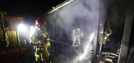 Overkapping bij woning aan Obrechtlaan in Eindhoven afgebrand, vogeltje overleeft brand niet