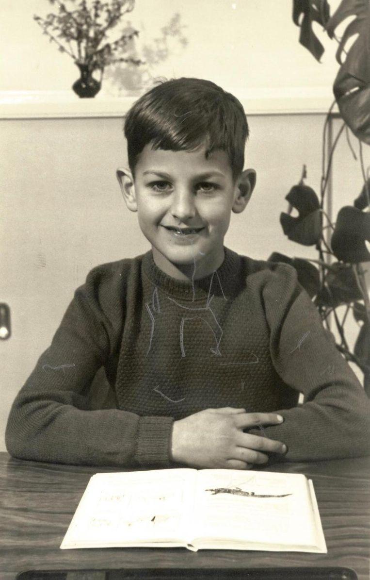 Johan Willemstein op een ongedateerde foto op de lagere school. Beeld