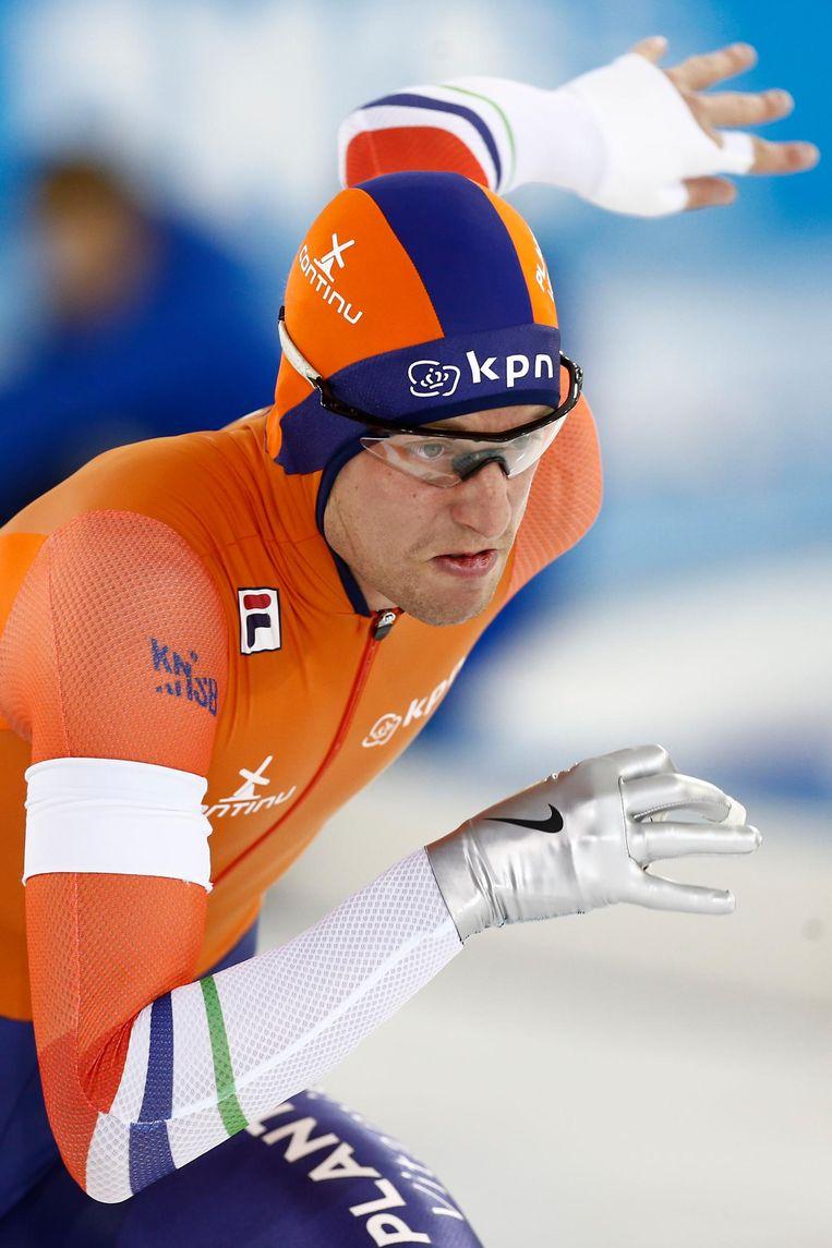 Ronald Mulder won de 500 meter door te vertrekken als een duivel uit een doosje. Beeld null