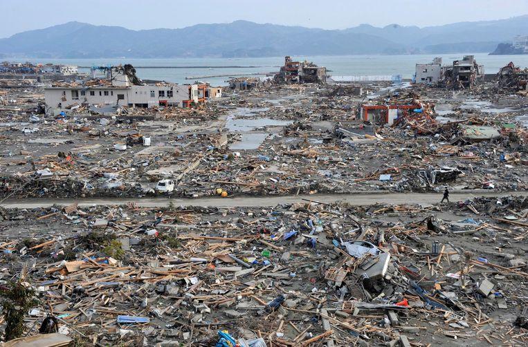 De ravage na de tsunami was enorm. En achteraf bezien dus nóg groter. Beeld afp