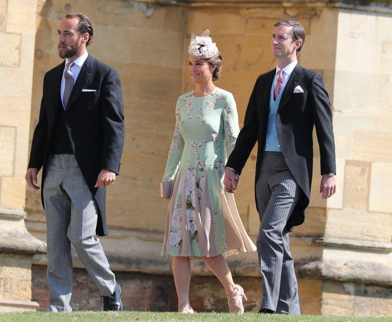 Pippa Middleton en James Matthews op het huwelijk van Prins Harry en Meghan Markle.
