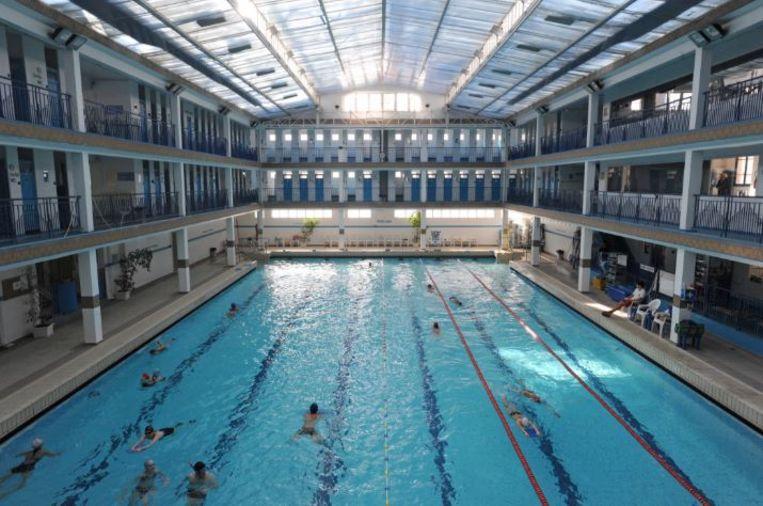 'Ik zwem het liefst in Piscine Pontoise, een mooi oud zwembad in St. Germain.' Beeld