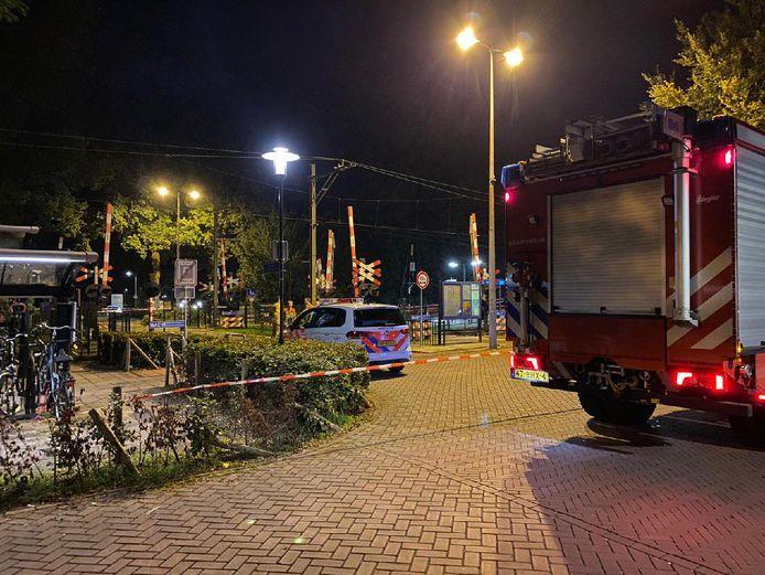 Hulpdiensten aanwezig op het station van Ermelo.