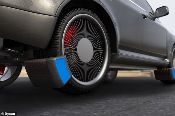 Het prototype van het fijnstoffilter voor het opvangen van rubberdeeltjes van autobanden