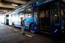 De trolleybus gaat zo richting Geitenkamp.