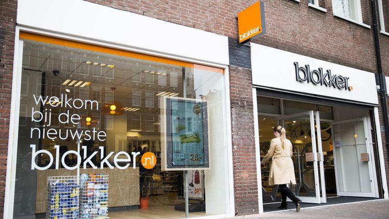 De nieuwe Blokker die vrijdag opent aan de Bilderdijkstraat in Amsterdam. Niet alleen de inrichting en het assortiment zijn veranderd, maar ook het logo van de keten. Beeld Het Parool