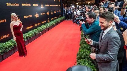Dries Mertens die voor de gelegenheid Katrin Kerkhofs fotografeert: deze beelden van de Gouden Schoen zag je nog niet