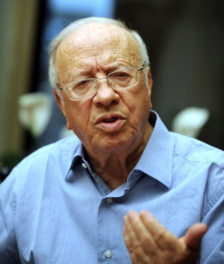 De Tunesische president Béji Caïd Essebsi.