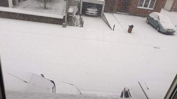 In Tongeren ligt er al een aardig laagje sneeuw.