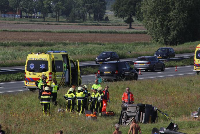 Ernstig ongeluk op de A50 bij Heeswijk.