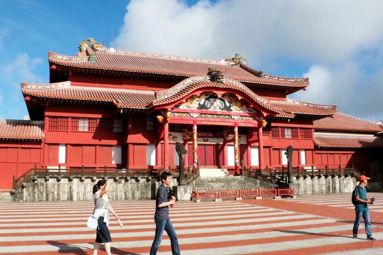 Het hoofdgebouw van het Shuri-kasteel in volle glorie.
